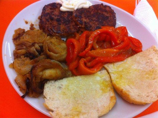 Don Panino: doppio hamburgher al piatto con verdure a scelta