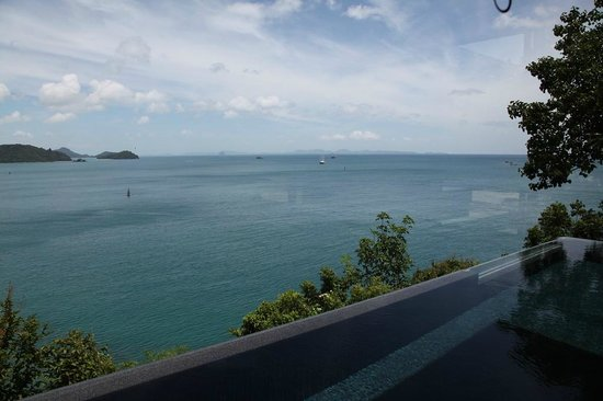 Sri Panwa Phuket Luxury Pool Villa Hotel: view from private pool