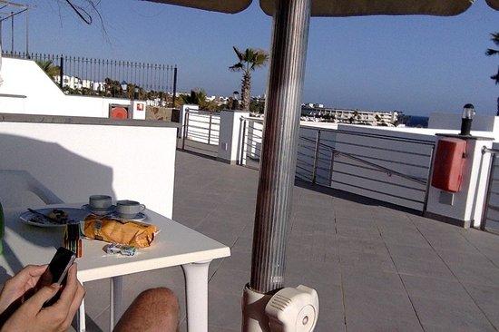 Nautilus Lanzarote: La terraza, que no jardin