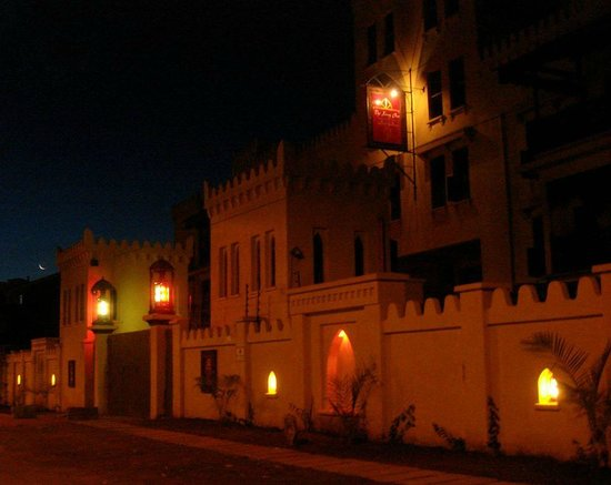 The King Post: Entrance at Night