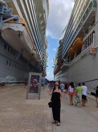 Paradise Beach: Arriving at Cozumel Cruise Terminal.