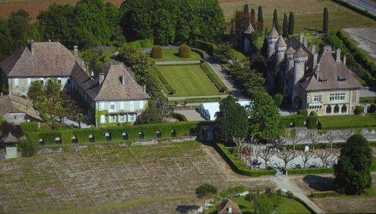 Chateau de Ripaille, jardins, vignobles: Vue aérienne