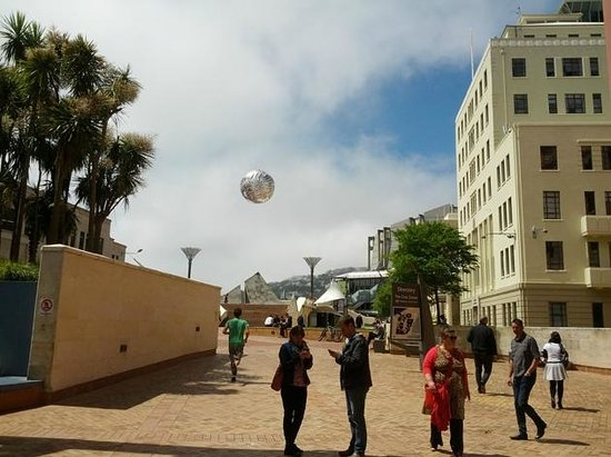 Civic Square: The flying ferns