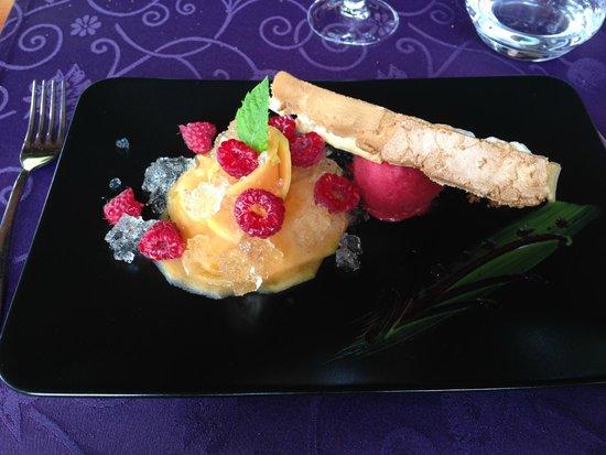 Restaurant Le Continental : melon et framboise