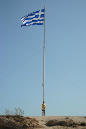 Kipriotis Village Resort: The greek flag