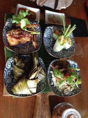 Fat Chow: Sample plate....YUM