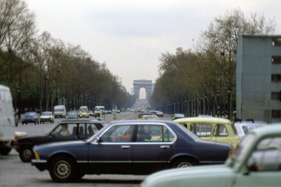 Champs-Elysees: fino all'arco