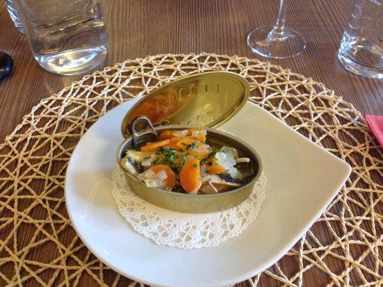 Les 3 sardines : Sardines marinées au vin blanc