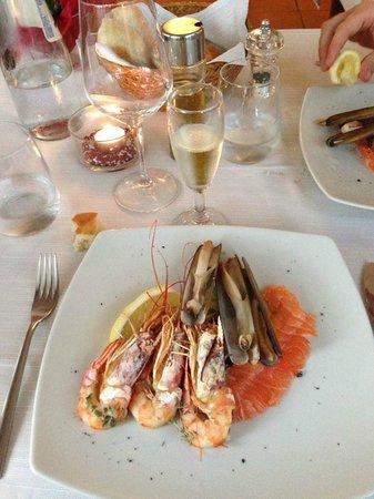 Etoile Restaurant: Tris di antipasti con prosecco di Toso