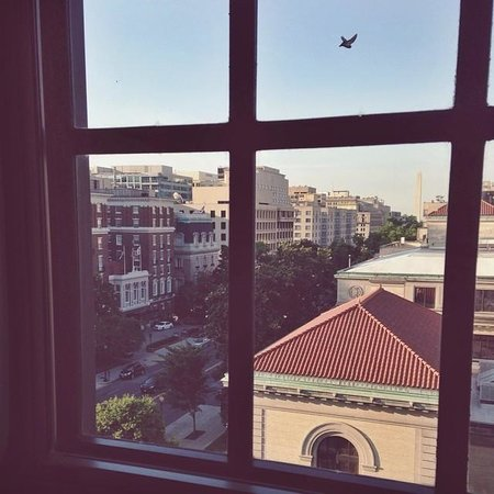 The Jefferson, Washington DC: View from room facing south towards Washington Monument