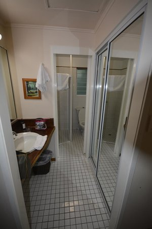 Daintree EcoLodge & Spa: Out dated bathroom