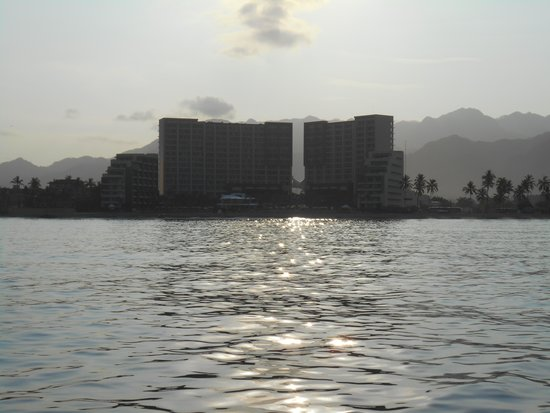Secrets Vallarta Bay Resort & Spa: Hotel from our boat trip