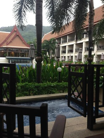 Deevana Patong Resort & Spa: view from our balcony with jacuzzi