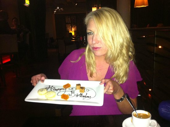 ABode Restaurant: Birthday message with the petit fours