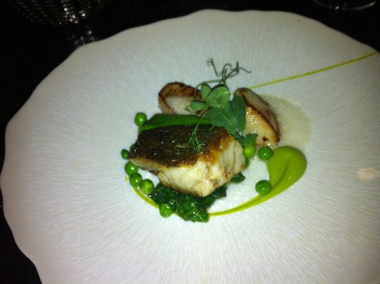 ABode Restaurant: Cod with scallops and bacon