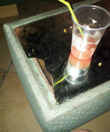 Topaz Hotel : Broken Glass Table Top