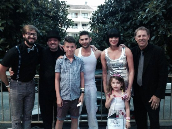 The House of Illusion magicians with Kieran & Ellie