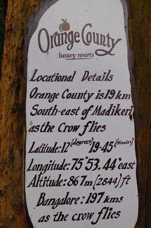 Orange County, Coorg: OC Details