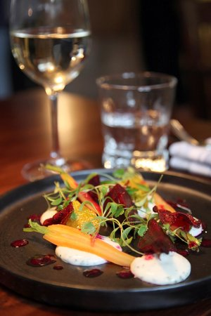 The Windmill by Richard Phillips: Goats cheese and summer vegetable salad