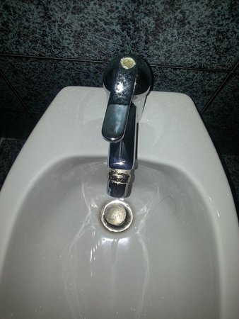 Clorinda Paestum Hotel: sanitari malandati