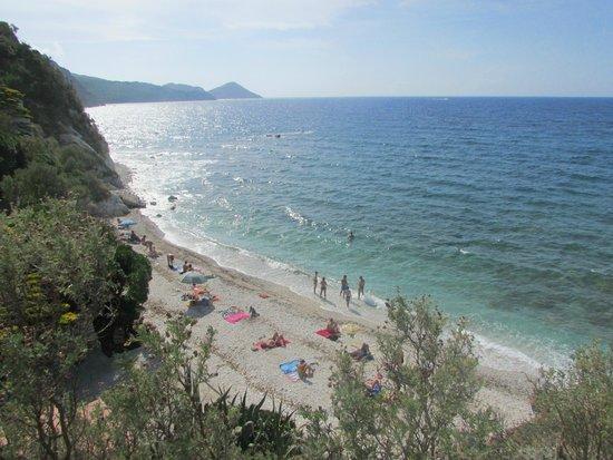 Spiaggia di Capo Bianco : veduta dall'alto