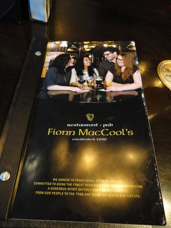 Fionn MacCool's Irish Pub: menu