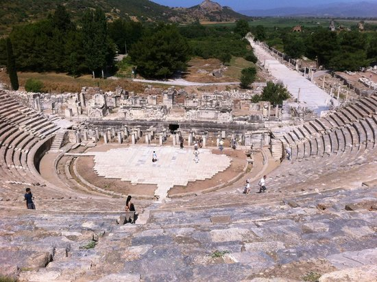 Ephesus Travel Guide - Private Ephesus Tours: Ephesus Archaic Theatre