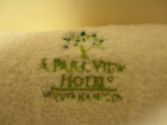 A Park View Hotel : Monogrammed towels
