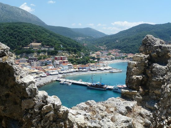 Venetian Castle of Parga: View over Parga from the Castle