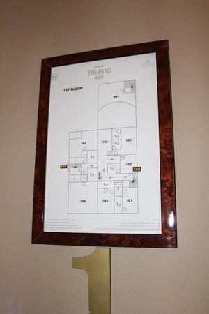 Pand Hotel Small Luxury Hotel: Zimmer 105 - kleinstes Zimmer