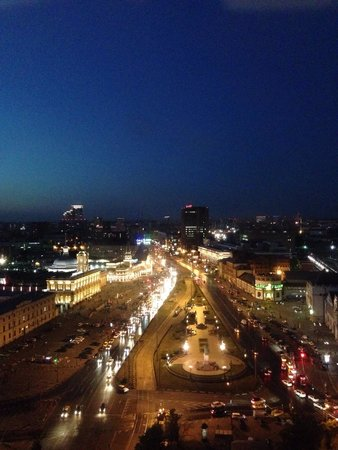 Hilton Moscow Leningradskaya: View from room-Night