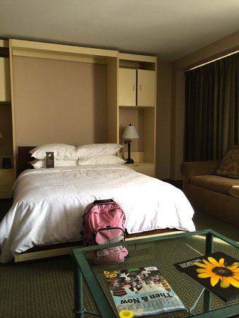 Sheraton Inner Harbor Hotel: Murphy bed (super comfortable!!!) in the hospitality suite