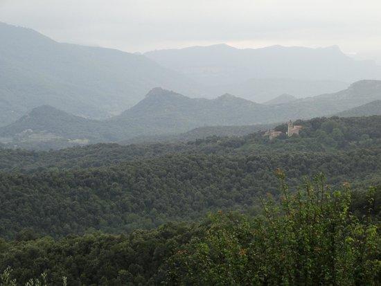 Mas el Siubès: View of surrounding area in early evening