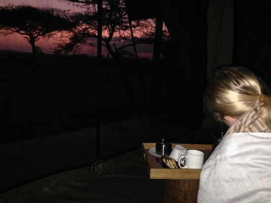 Naboisho Camp, Asilia Africa : Early Morning Wake Up Call