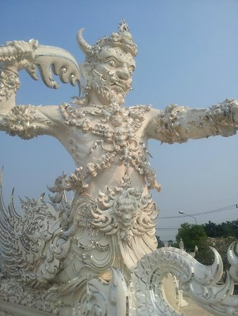Wat Rong Khun : piastrine di specchi