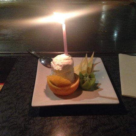 Miyako Teppan-yaki: My special graduation desert