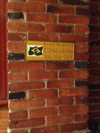 Bovino's Churrascaría : Cantinho da decoração em homenagem ao Brasil.