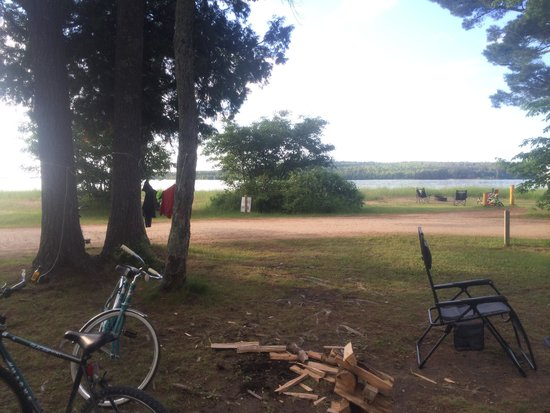 Munising Tourist Park Campground: View from our campsite