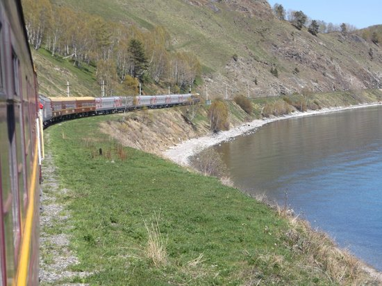 Trans-Siberian Railway - Day Trips: Zarengold train at Lake Baikal