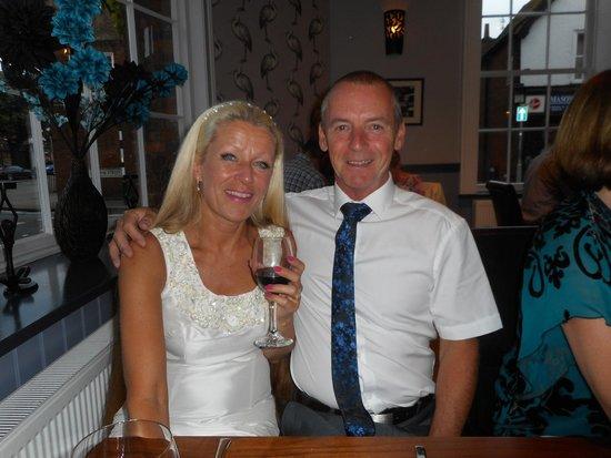 The George at Baldock: The happy couple
