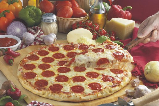 Best Western Plus Rockville Hotel & Suites: Delicious mouth watering crust and real cheese
