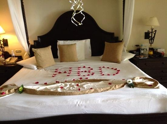 Luxury Bahia Principe Cayo Levantado Don Pablo Collection: my birthday bed surprise from the chamber maid and keldwin