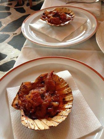 Restaurante Xoina: Vieiras a la gallega