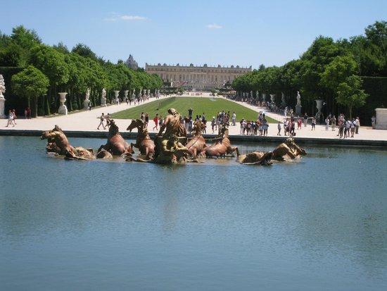 Vue du château de Versailles