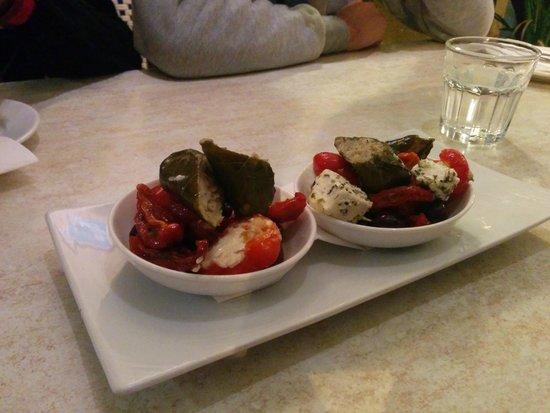 George's Meze: This is an Entrée, olive is quite good.