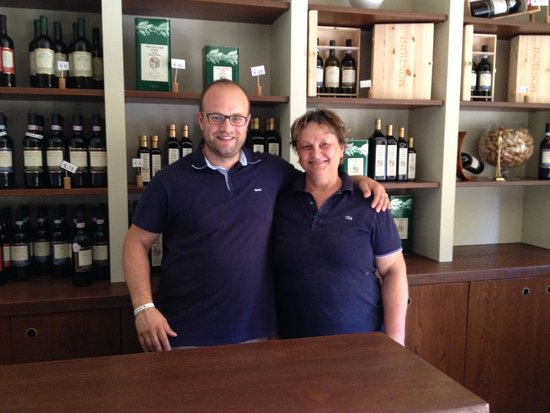 Montioni, Oil Mill & Winery: Paolo and his mother