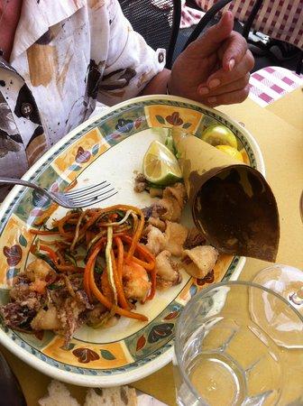Aldente Trattoria: Fried fish mix
