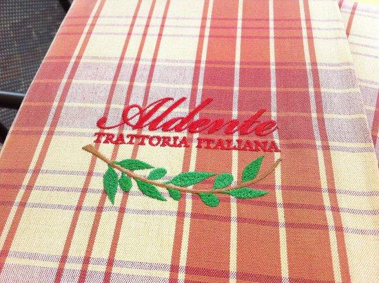 Aldente Trattoria: the menu