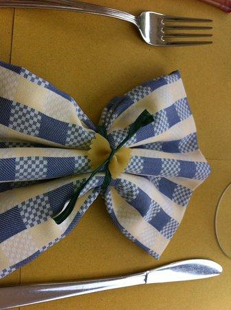 Aldente Trattoria: the napkin