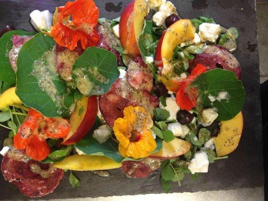 Cafe Roya: Photo taken from their Facebook page my Mum loved this amazing nasturtium salad